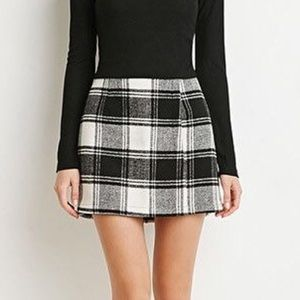 Faux wrap mini skirt